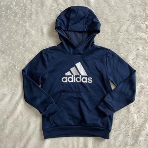 Boys Adidas navy hoodie
